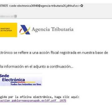 Alertan de un correo falso de Hacienda con un virus coincidiendo con la campaña de la renta.